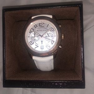 White leather Michael Kors Watch!